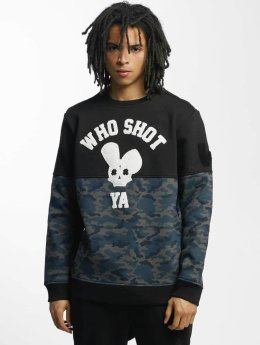 Who Shot Ya? Pullover Darkcamou schwarz