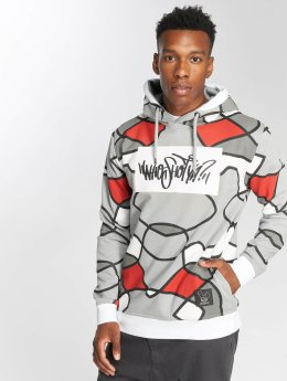 Who Shot Ya? Sweat capuche W Lines gris