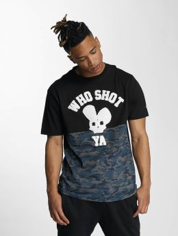 Who Shot Ya? t-shirt Darkcamou zwart