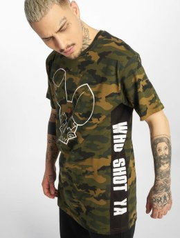 Who Shot Ya? T-Shirty Camou Funk moro