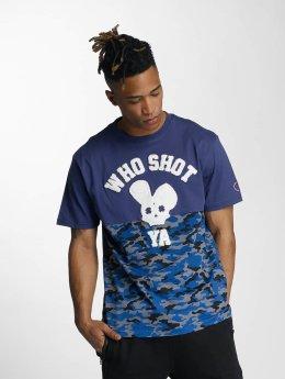 Who Shot Ya? T-Shirty Bluecamou niebieski