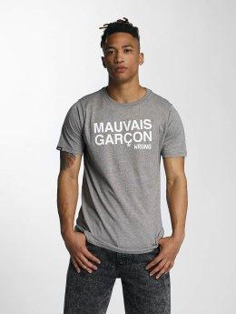 Wrung Division Футболка Mauvais Garcons серый