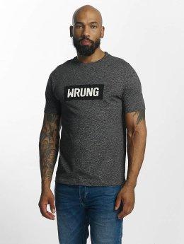 Wrung Division Футболка Box Logo серый