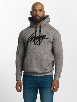 Wrung Division Hoody Heather Sign grau