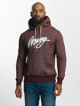 Wrung Division Hoody Heather Sign rood