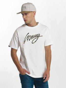 Wrung Division T-Shirt Sign Camo blanc
