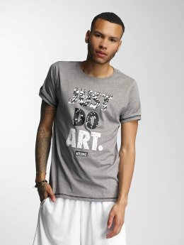 Wrung Division T-Shirt Just Do Art grey