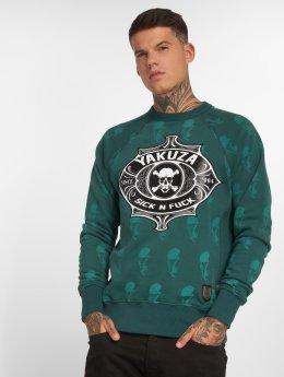 Yakuza Пуловер Sick N Fuck зеленый