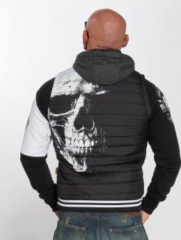 Yakuza Chaleco Skull Quilted negro