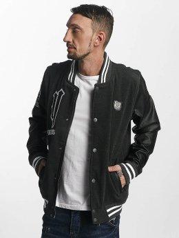 Yakuza College Jacket Cross Bones gray