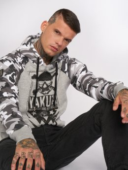 Yakuza Hoodie Skull Two Face grey