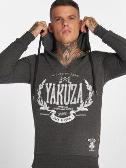 Yakuza Hoodies Killed By Fame grå