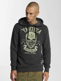 Yakuza Hoodies Dead Head grå