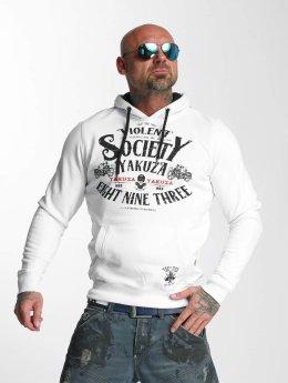 Yakuza Hoodies Violent Society hvid