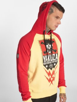 Yakuza Hoody Skull Two Face geel