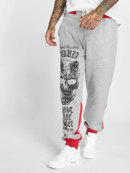 Yakuza Joggebukser Demon Two Face grå