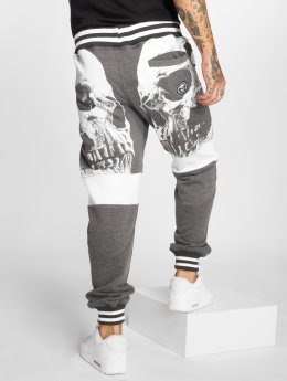 Yakuza joggingbroek Skull V02 grijs