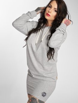 Yakuza jurk Basic Line Hooded grijs