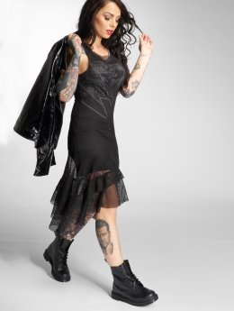Yakuza Kleid Trojan Mesh schwarz