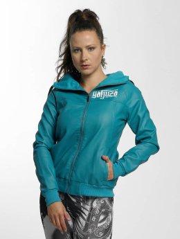Yakuza Leather Jacket Believe Faux turquoise
