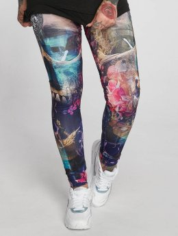 Yakuza Legging Flowers Of Death multicolore