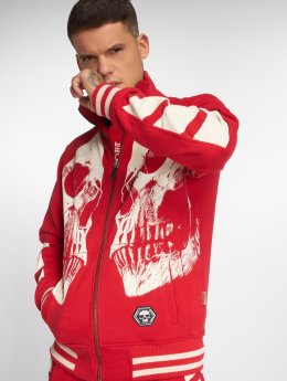 Yakuza Lightweight Jacket Skull V02 red