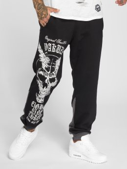Yakuza Pantalone ginnico Demon Two Face nero