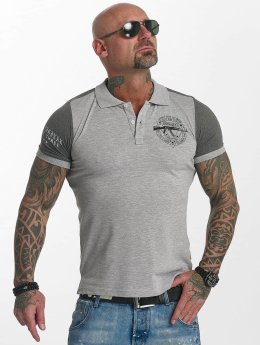 Yakuza Poloshirt AK Two Faces grau