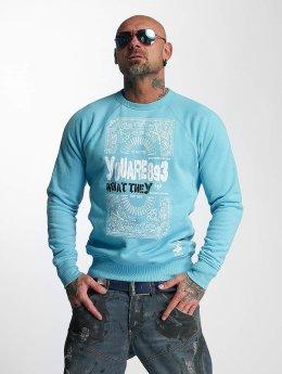 Yakuza Pullover No Matter blau