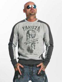 Yakuza Pullover Love Hate grau