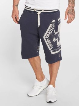 Yakuza Shorts Skull Label indigo
