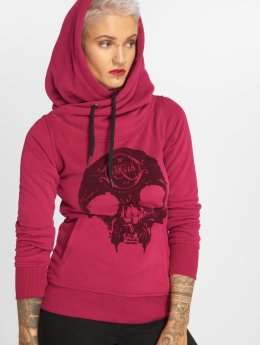 Yakuza Sweat capuche Velvet Skull II rouge