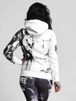 Yakuza Sweat capuche zippé Unicorn  blanc
