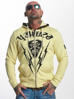 Yakuza Sweat capuche zippé Thunderstorm jaune