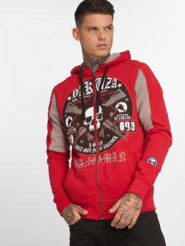 Yakuza Sweat capuche zippé Hangman rouge