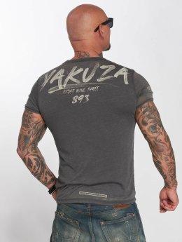 Yakuza T-paidat Burnout harmaa