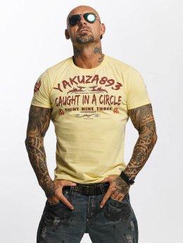 Yakuza T-paidat Caught In A Circle keltainen