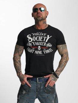 Yakuza T-paidat Violent Society musta