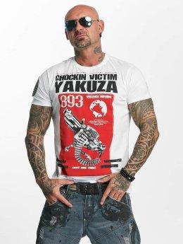 Yakuza T-paidat Chockin Victim valkoinen