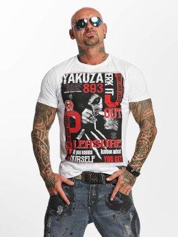 Yakuza T-paidat Jerk it out valkoinen