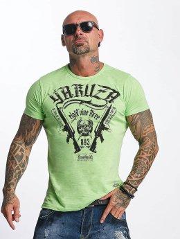 Yakuza T-paidat Armed Society vihreä