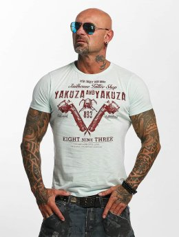 Yakuza T-Shirt Tattoo Shop blau