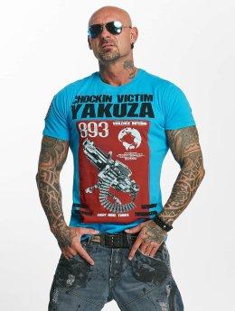 Yakuza T-Shirt Chockin Victim blau