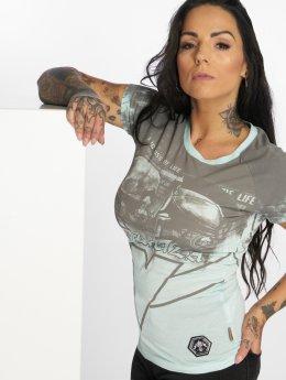 Yakuza t-shirt Trojan blauw