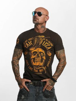 Yakuza T-Shirt Addicted brown