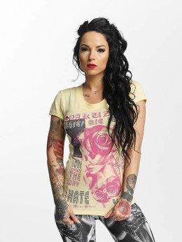 Yakuza t-shirt Roses Are Red geel