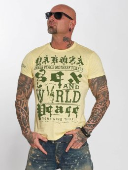 Yakuza T-Shirt World Peace gelb