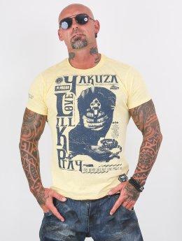 Yakuza T-shirt Love Kill Pray giallo