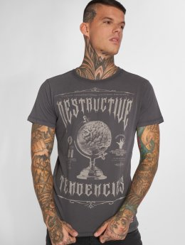 Yakuza T-Shirt Destructive Tendencies grau