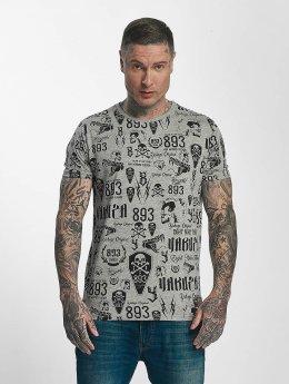 Yakuza T-Shirt Allover Label grau